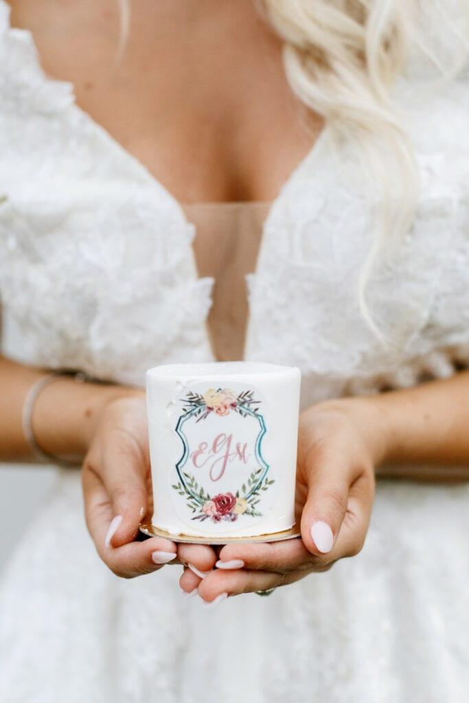 Custom monogrammed wedding candle favors