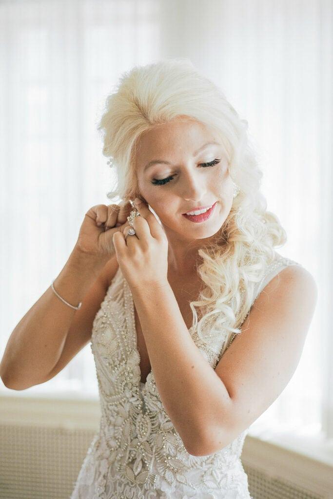 Soft and glamorous wedding makeup