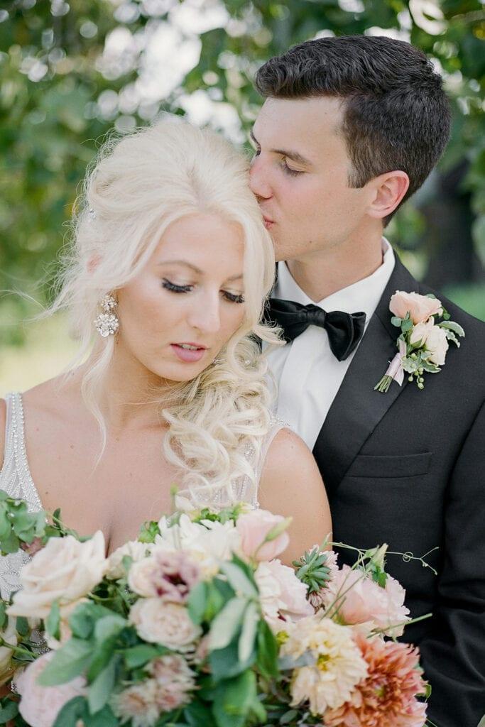 Romantic wedding portrait by Pittsburgh wedding photographer Lauren Renee