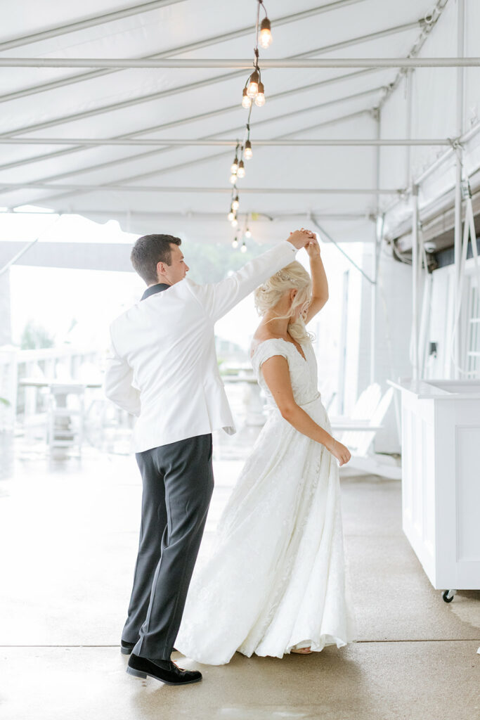 Second first look for Pittsburgh Riverfront Wedding