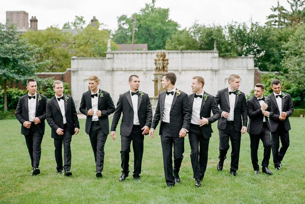 Classic black wedding tuxedos