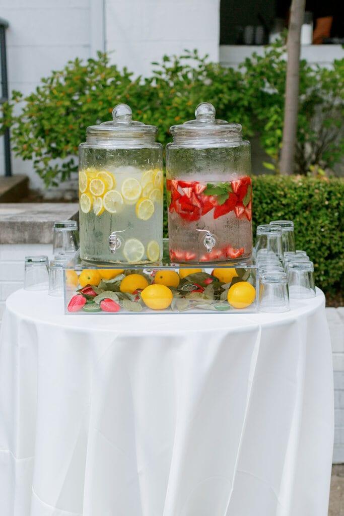 Wedding ceremony drink station