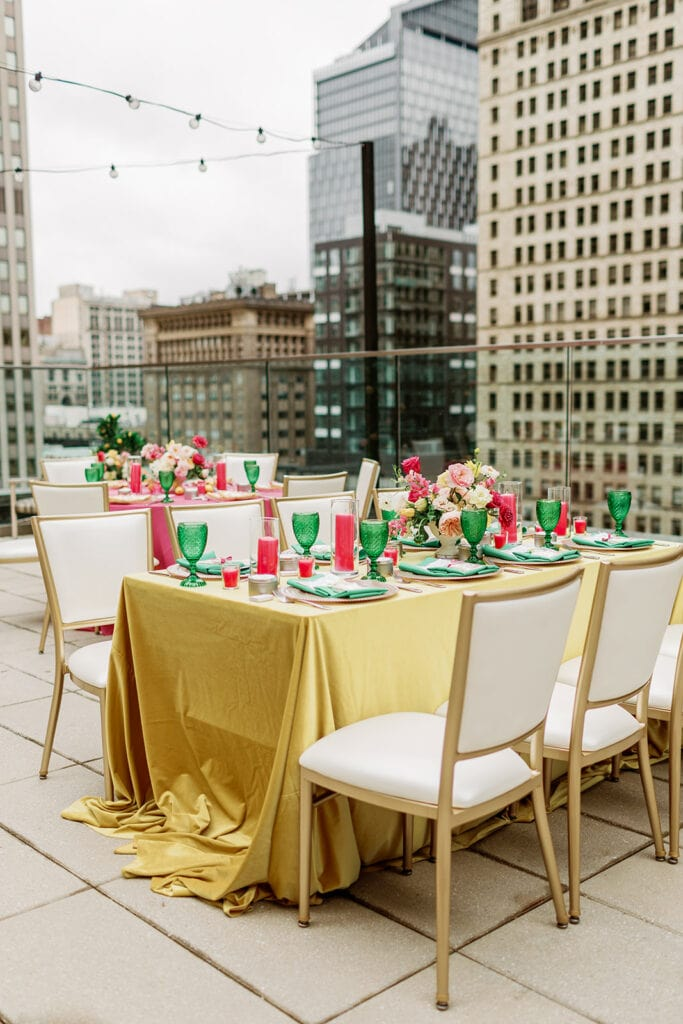 Pittsburgh Hotel Monaco Rooftop Bridal Shower