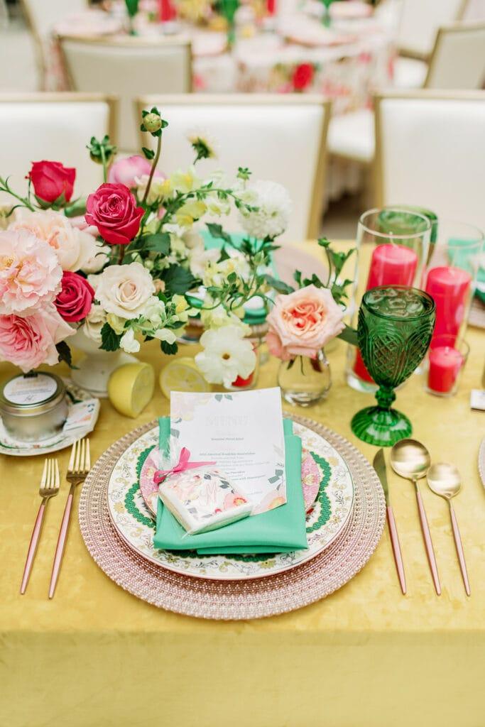 Colorful bridal shower inspiration
