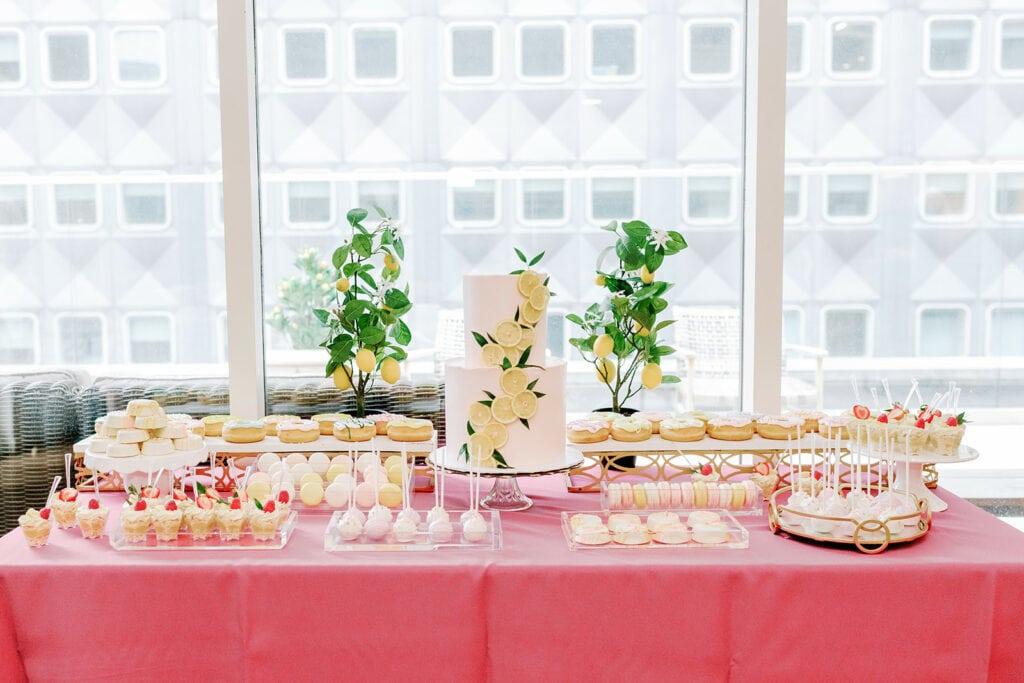 Lemon inspired bridal shower cake by Tasty Bakery
