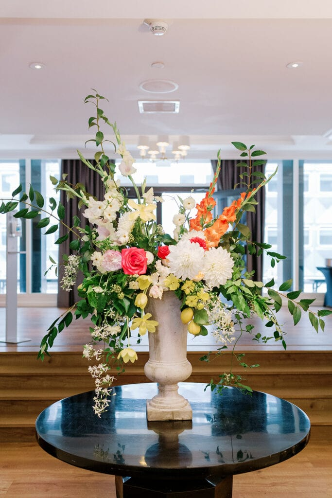 May Chester Design bridal shower flowers