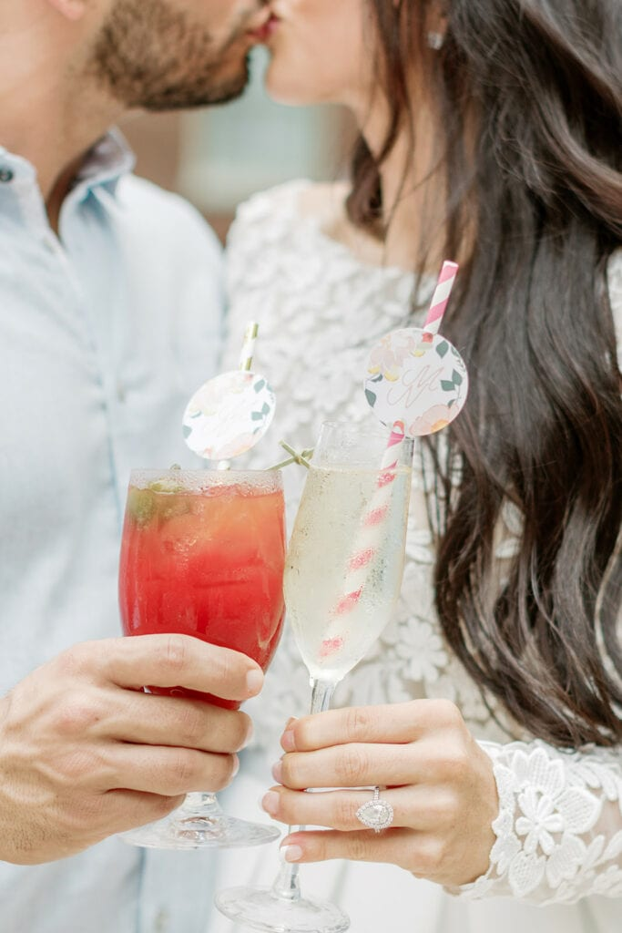 Colorful rooftop bridal shower at Hotel Monaco
