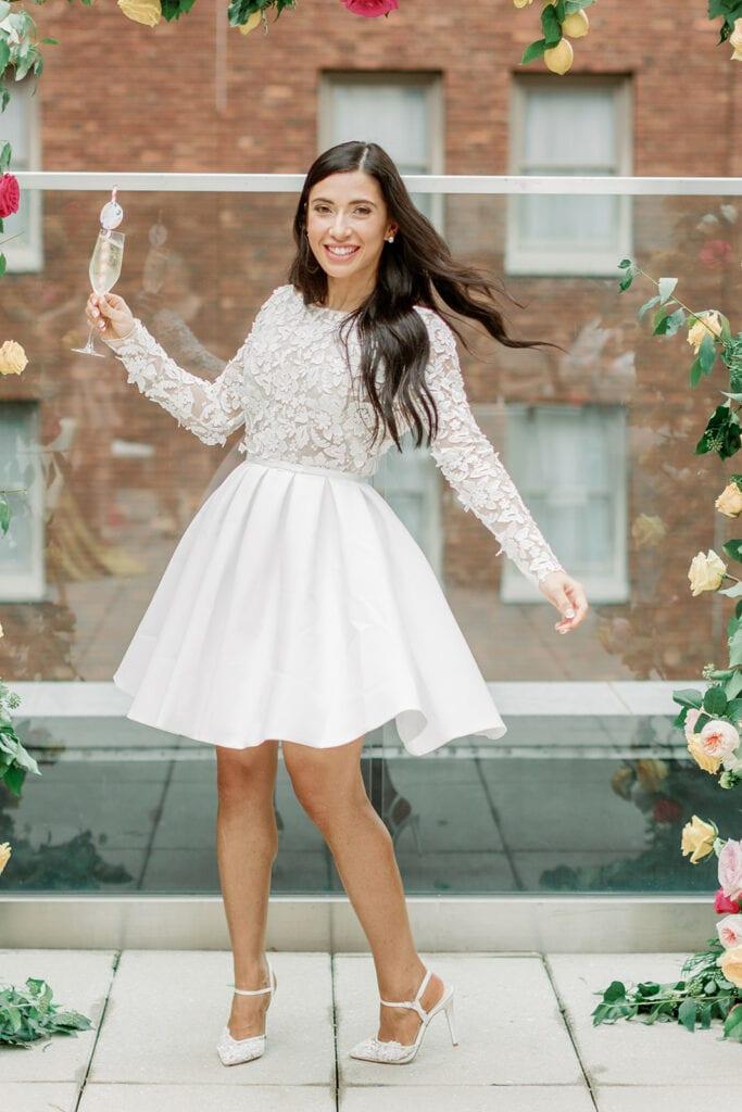 Rime Arodaky bridal shower dress