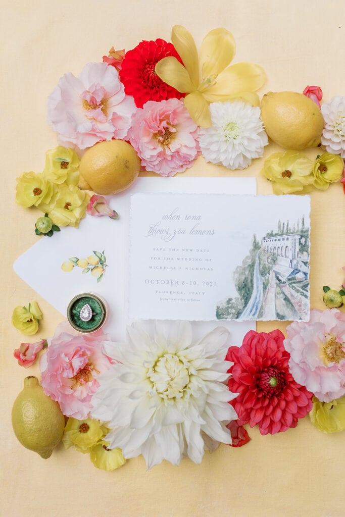 Lemon inspired bridal shower inspiration