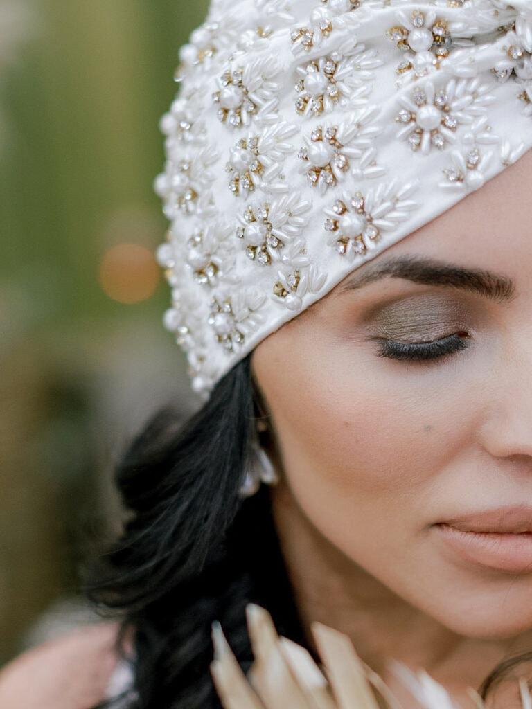 Boho wedding hair accessories