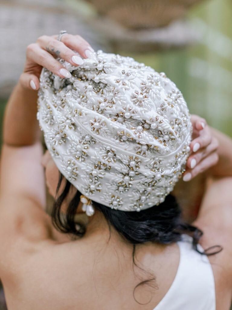 Embellished bridal turban