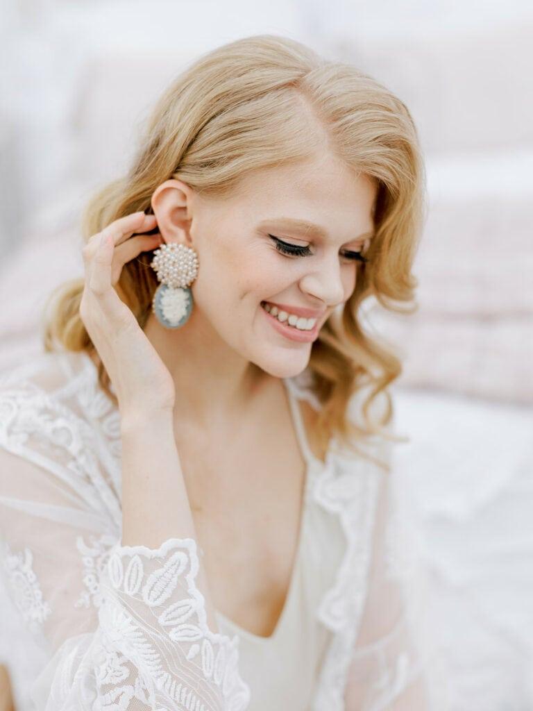 BHLDN wedding earrings