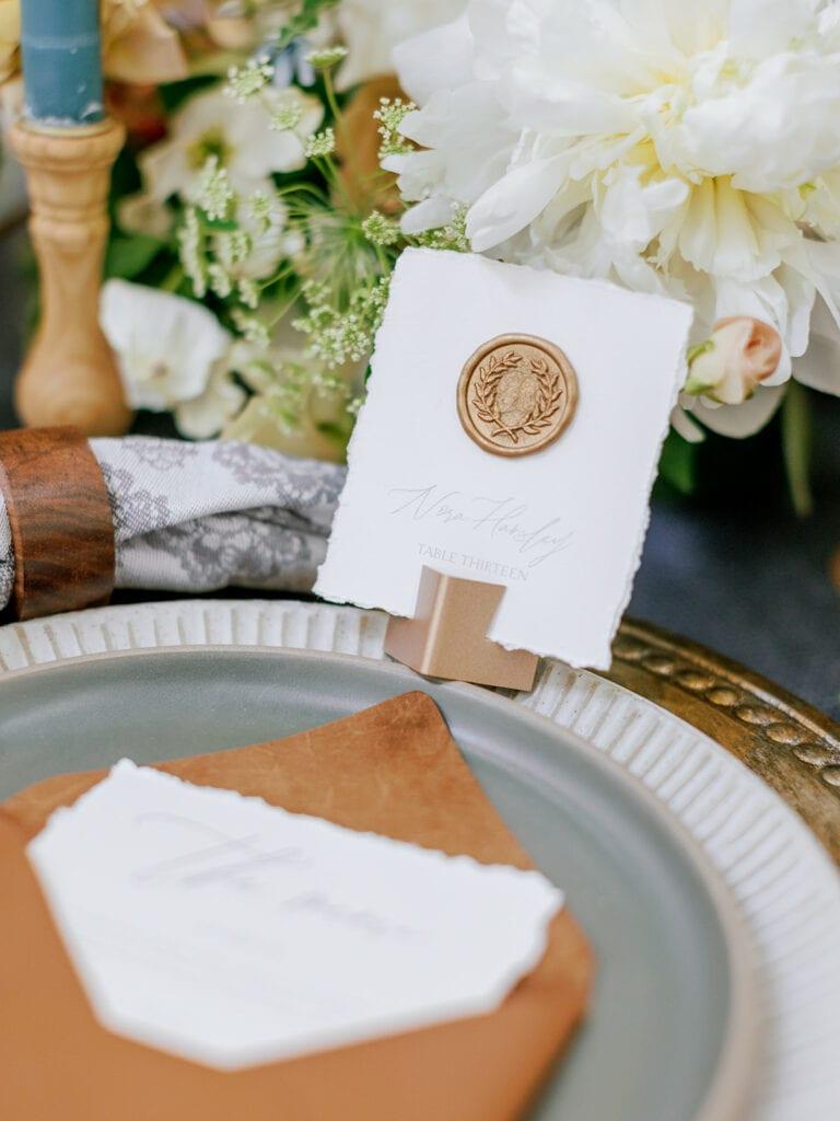Wedding wax seal escort cards