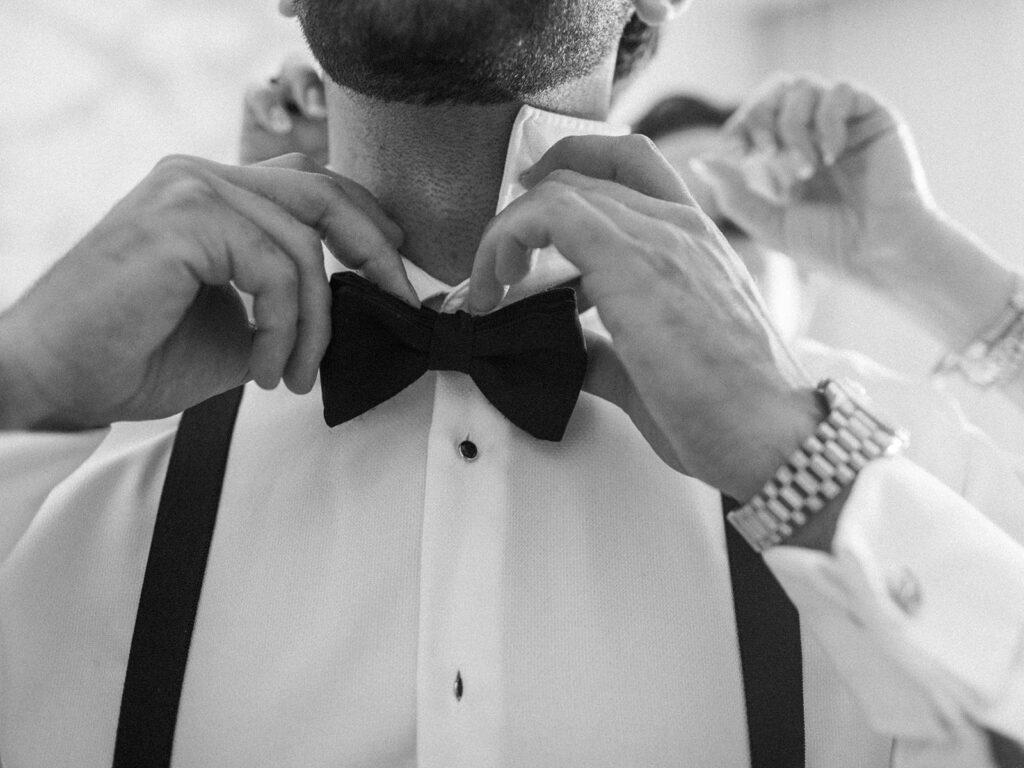 Black wedding bow tie