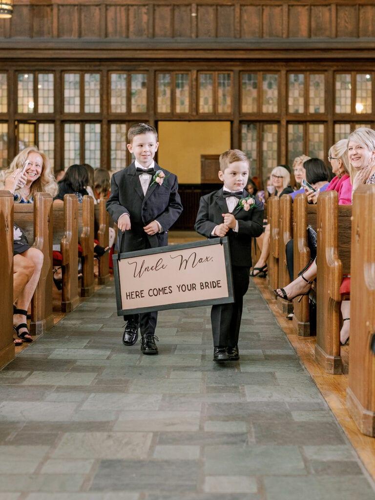 Ring bearer wedding ceremony sign