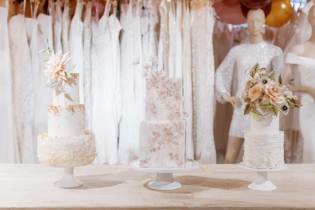 Fine art wedding cake display