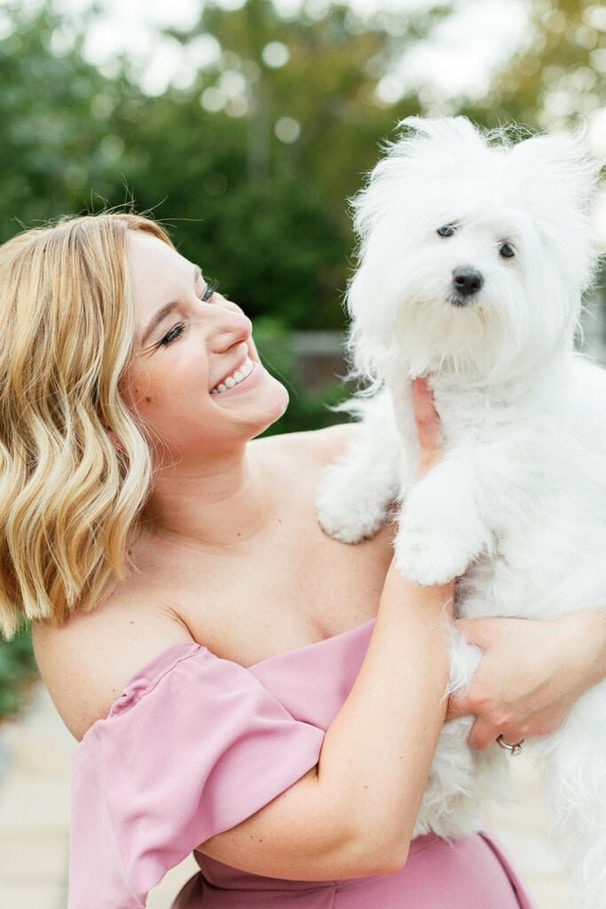 Engagement photography with pets