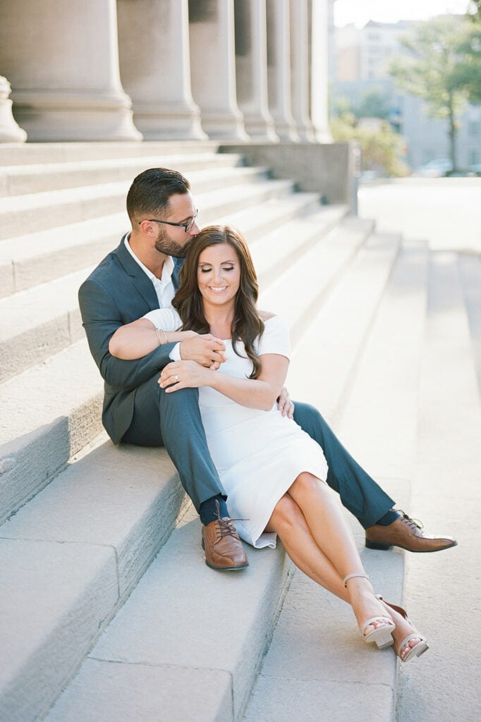 Oakland Columns engagement session with Lauren Renee Photography