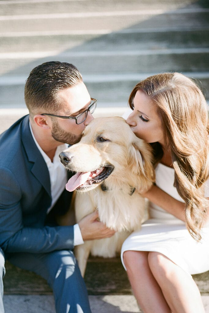 Mellon Institute engagement photos with dog