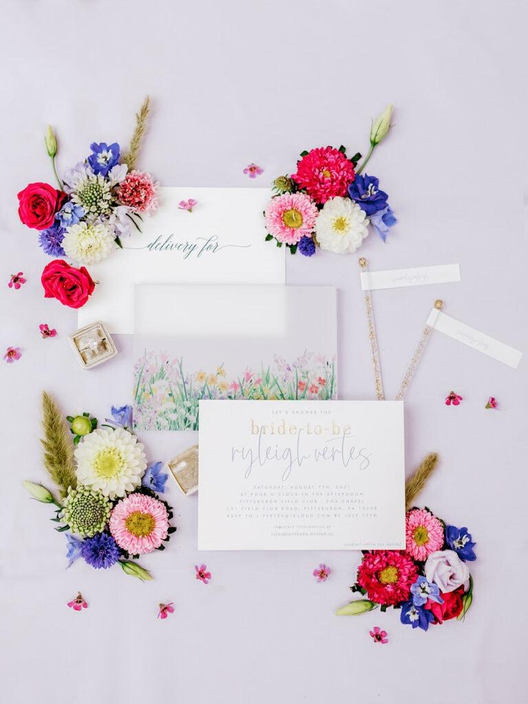 Garden Inspired Bridal Shower Invitations