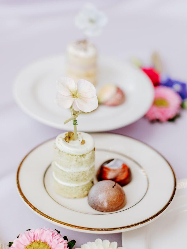 Fine art bridal shower dessert
