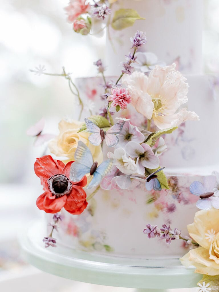 Sugar Flower Bridal Shower Cake by Alex Robba
