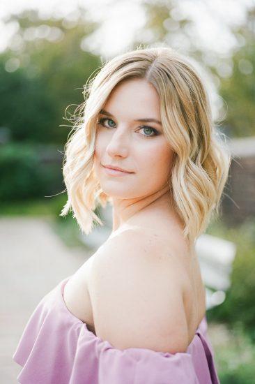 Portrait of a gorgeous bride during engagement photos