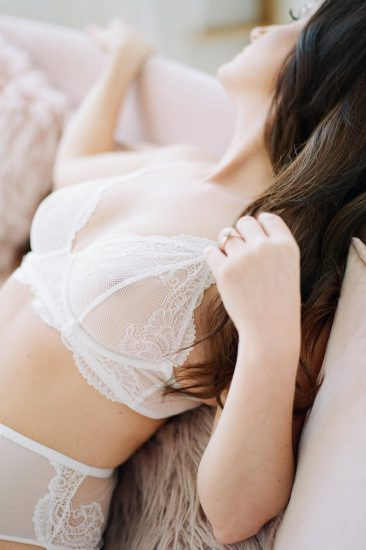 close up of a woman's white lace bra: Pittsburgh Boudoir Photography