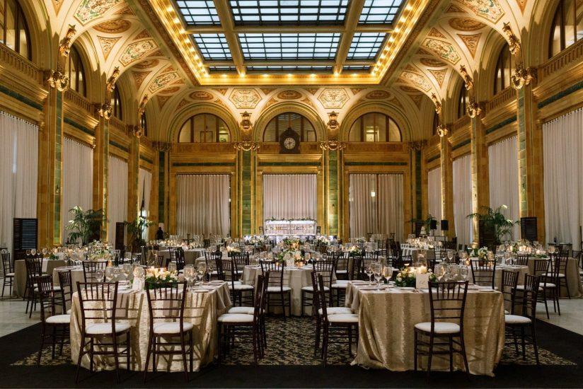 Reception venue set up at the Pennsylvanian