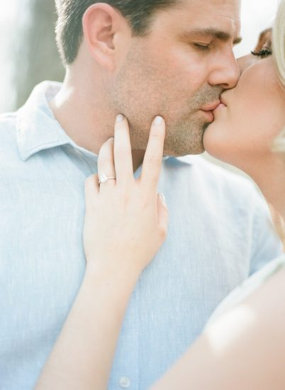 Couple kissing gently